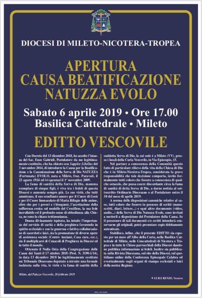 Apertura causa di beatificazione Natuzza Evolo
