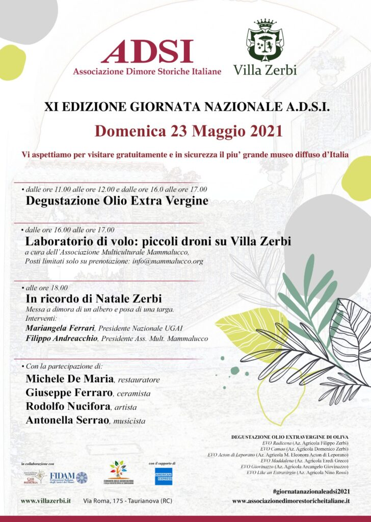 Programma Giornata Dimore Storiche a Villa Zerbi