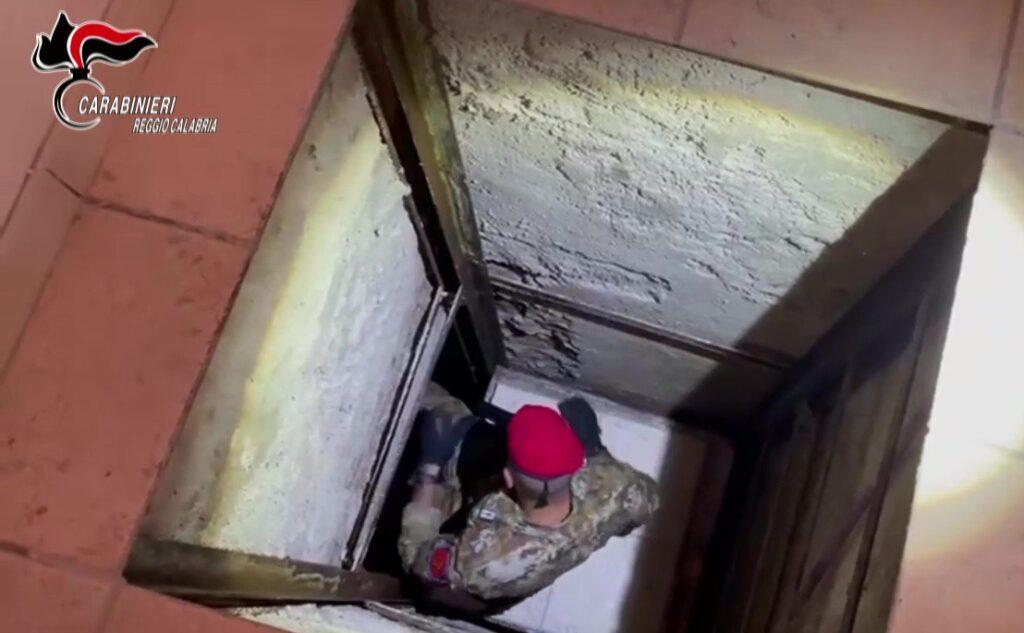 Il bunker scoperto a Taurianova dai Carabinieri